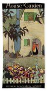 House & Garden Cover Illustration Of An Bath Towel
