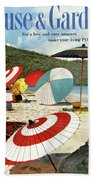 House And Garden Featuring Umbrellas On A Beach Bath Towel