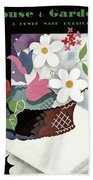 House And Garden Summer Furnishings Number Cover Bath Towel