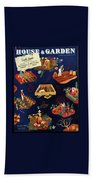 House And Garden The Gardener's Yearbook Cover Bath Towel