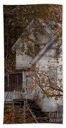 House In Fall Bath Towel
