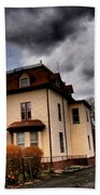 House With Storm Approaching Bath Towel