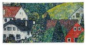Houses At Unterach On The Attersee Bath Towel