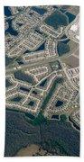 Housing Development Near Wetland Bath Towel