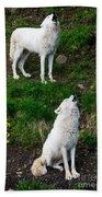 Howling Wolves Bath Towel