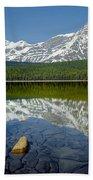 1m3643-howse Peak, Mt. Chephren Reflect Bath Towel