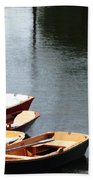 Hoyt Lakes Rowboats In Delaware Park Buffalo Ny Oil Painting Effect Bath Towel