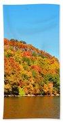 Hudson River Fall Foliage Bath Towel