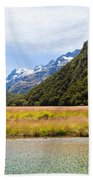 Humboldt Mountains Seen From Routeburn Track Nz Bath Towel