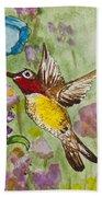 Humming Bird Bath Towel
