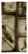 Hummingbird Family Portraits Bath Towel