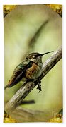 Hummingbird Noveau Bath Towel