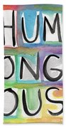Humongous Word Painting Bath Towel
