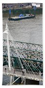 Hungerford Bridge Bath Towel