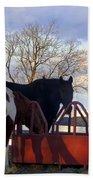 Hungry Horses Bath Towel