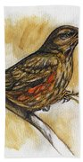 Hungry Thrush Bath Towel