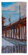 Huntington Beach Pier 2 Bath Towel