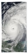 Hurricane Wilma  Hand Towel by Planet Observer