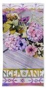 Hydrangea Anemones Bath Towel