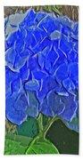 Hydrangea Blues Bath Towel