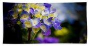 Purple Blue Hydrangea, Corona Del Mar California Bath Towel