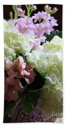 Hydrangeas Bouquet Bath Towel
