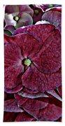Hydrangeas In Rich Rose Color Bath Towel
