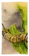 I Am Very Hungry - Monarch Caterpillar Bath Towel