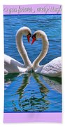 I Promise To Love You Poster By Diana Sainz Bath Towel