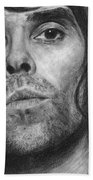 Ian Brown Pencil Drawing Bath Towel