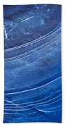 Ice Curve In Blue Bath Towel