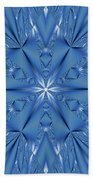 Ice Flower Fractal Bath Towel
