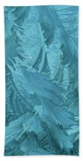 Ice Patterns Formed On Glass Bath Towel