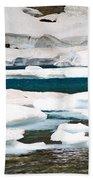 Icebergs In August Glacier International Peace Park Bath Towel