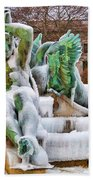 Iced Swann Fountain Bath Towel
