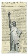 Icon Of Freedom Bath Towel