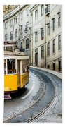 Iconic Lisbon Streetcar No. 28 IIi Bath Towel
