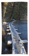 Icy Boardwalk Bath Towel