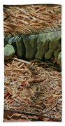 Iguana With A Smile Bath Towel