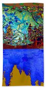 Illusion Of Lake And Forest Bath Towel