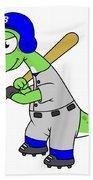 Illustration Of A Brontosaurus Baseball Bath Towel