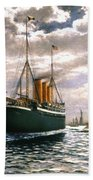 Immigrant Ship, 1893 Bath Towel