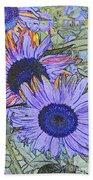 Impressionism Sunflowers Bath Towel
