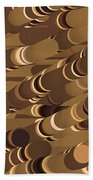 Impressionist Golden Rising Sand Castle Show Pattern Art 36x12 Horizontal Landscape Energy Graphics  Bath Towel