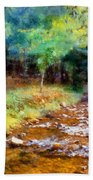 Impressionist Rocky Creek Bath Towel