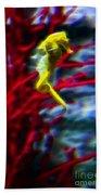 Impressionist Sea Horse Bath Towel