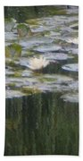 Impressions Of Monet's Water Lilies  Bath Towel
