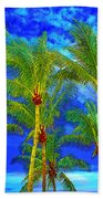 In A World Of Palms Bath Towel