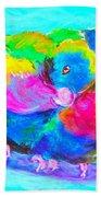 In Love Birds - Lorikeets Bath Towel