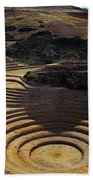 Inca Crop Circles At Moray Bath Towel